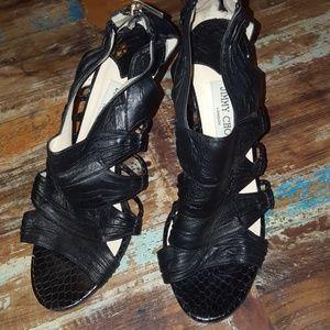 Jimmy Choo black leather heels